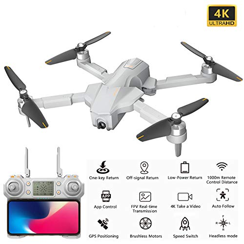 Professionals GPS Drone Met 4K-Camera, Foldable Quadcopter Met Borstelloze Motor, WIFI FPV Live Video, 25 Minuten Vliegtijd, 72 Km/H, Inclusief Draagtas