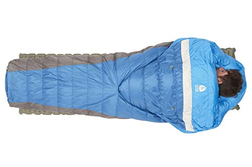 Sierra Designs Backcountry Bed 35, Lightweight Zipperless 35 Degree Backpacking Sleeping Bag with...