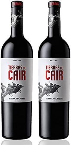 Vino Tinto Tierras de Cair de 75 cl - D.O. Ribera del Duero - Bodegas Cair (Pack de 2 botellas)
