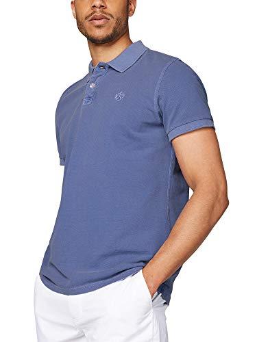 Camp David Herren Poloshirt aus Pique mit tonigem Logostick