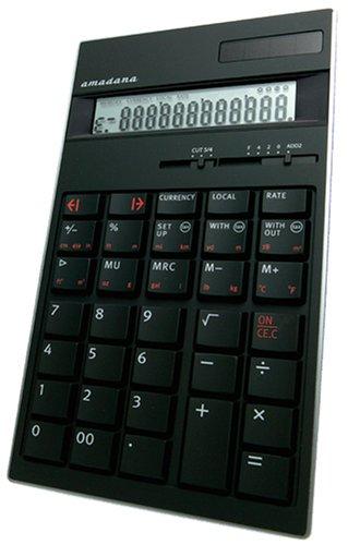 amadana 電子計算機 ブラック LC-104-B