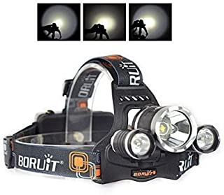 Lampe frontale /à LED pour Camping // Voyage // Randonn/ée // Aventure // P/êche de nuit Lampe L2 1000 Lumens Lampe frontale LED CREE XM-L2 3 heures d/éclairage continu