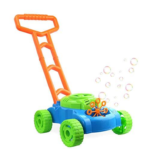 heresell Burbuja Electronic Mower, Juguetes y Juegos Burbuja Coche de Empuje de Mano para niños, Bubble Blowing Mower al Aire Libre Juguete para niños o niños (Burbuja líquido no Incluido)