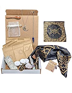 Deluxe Witchcraft Kit, Outdoor Travel Altar, Spell Box, Witch Herb Box, Witch Gifts, Spiritual Healing, Altar Supplies, Witches Herbs Kit, Sage Smudge, Occult Herbalism, Witchcraft Supplies, Spoon
