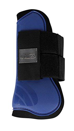QHP Gamaschen Hartschalengamaschen Pferdeschutz 3 Verschiedene Größen 13 (Shetty, blau)