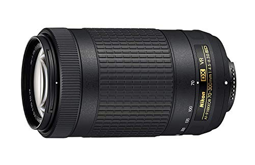 JAA829DA AF-P DX 70-300 mm f/4.5-6.3G ED VR Lente – Negro – ángulo de visión es...