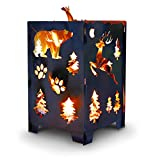 SuperHandy Fire Pit Outdoor California Bear Christmas/X-Mas Tree (Develops Patina Finish) Heavy Duty Steel 21'x 21'x 27' inches for Burning Wood at Bonfire, Beach Pit or Backyard Gathering