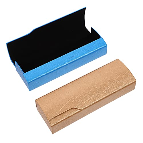 DOITOOL Funda de piel para gafas de sol, protección portátil, ligera, para mujeres y hombres, 2 unidades