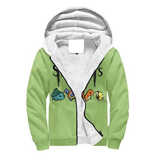 O5KFD&8 Männlich Durchgehender Reißverschluss Winter Vlies Sweatshirts Teen Die Starter AbbeyRoad Drucken Personalisiert - Lustiger Cartoon Baumwolle Atmungsaktiv Sportbluse für White 2XL