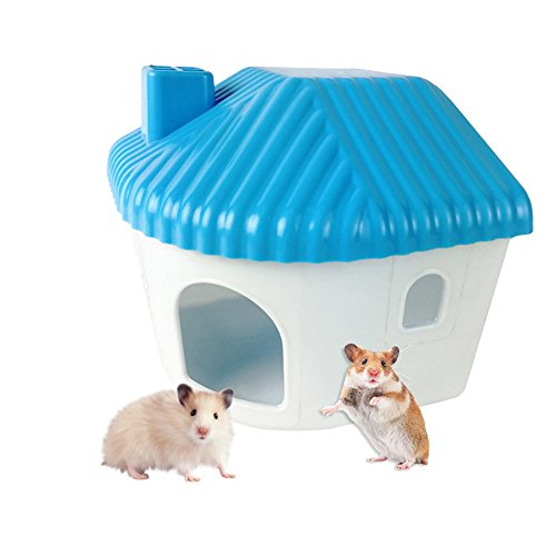 Hamster Cottage Casa de plástico Mini pequeño animal caliente casa juguetes montaje pequeña mascota dormitorio hámster casa