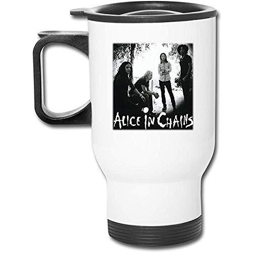 Frasco de termo de acero inoxidable con aislamiento al vacío Alice_In_Chains Fashion Frosted Auto Mug