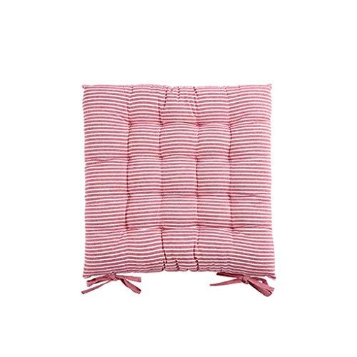 Zuodian Cuscino siamese uno morbido cuscino autunno e in legno tessuto panca sedia ispessimento cuscino studente inverno casa futon cuscino sedile singolo strisce rosa DIANZI