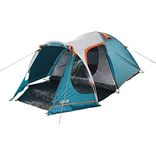 NTK INDY GT 4 to 5 Person 12.2 by 8 Foot Outdoor Dome Family Camping Tent 100% Waterproof 2500mm, European...
