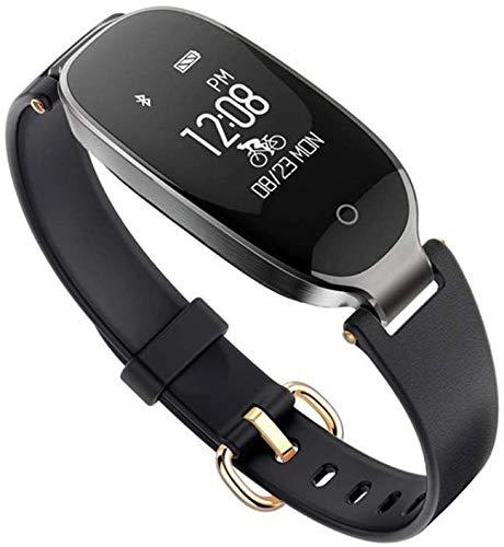 XXCLZ Intelligente Orologio da Polso Impermeabile, Abbigliamento Elegante Braccialetto Bluetooth, con cardiofrequenzimetro, Sleep monitoraggio, Adatto ad Android iOS,D