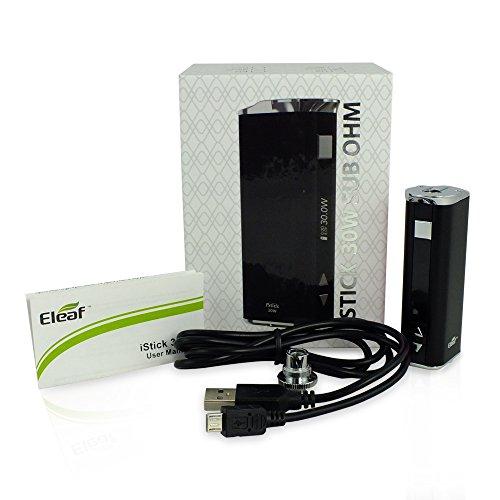 Eleaf Istick Temperatura Controllato 30W scatola mod (NERO) senza nicotina di Vaporcombo