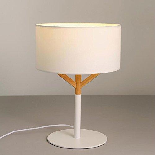Lampe de table lampe de bureau lampe de table en bois massif chambre à coucher lit de chevet salon décoré lampe de table moderne simple lampe de table en bois massif, E27