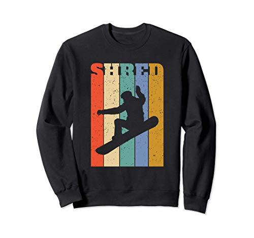 Snowboard-Shredder Retro-Vertikalstreifen Sweatshirt