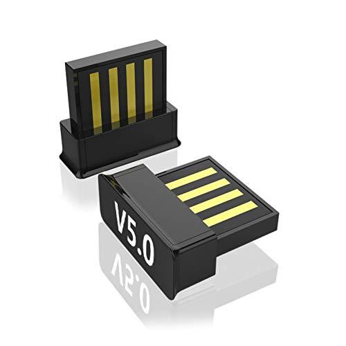 hudiemm0B Bluetooth Adapter, Mini Wireless Bluetooth 5.0 Transmitter Adapter Dongle for PC Laptop Computer Black