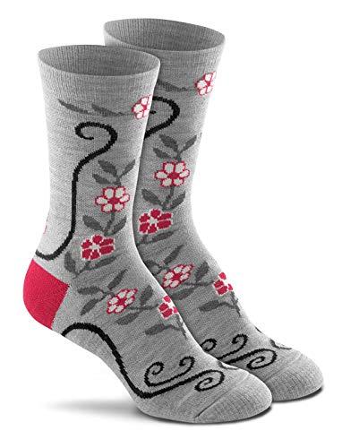 Fox River Socks Damen Desert Flower Crew Wandern Medium Grey Heather