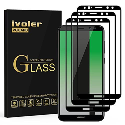 ivoler [3 Stücke] Panzerglas Schutzfolie für Huawei Mate 10 Lite, [Volle Bedeckung] Panzerglasfolie Folie Hartglas Gehärtetem Glas DisplayPanzerglas