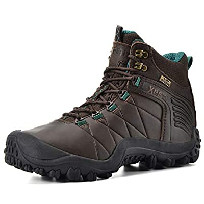 XPETI Women's Quest Mid Waterproof Leather Hiking Boot