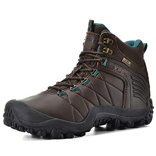 XPETI Women's Quest Mid Waterproof Hiking Boot (9.5, Brown)