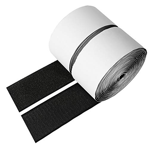 2 Inch Hook and Loop Tape Self-Adhesive, ManHoo 5.5 Yards Length Heavy Duty Sticky Back Fastener, Professional Stronghold Hook Loop Strips