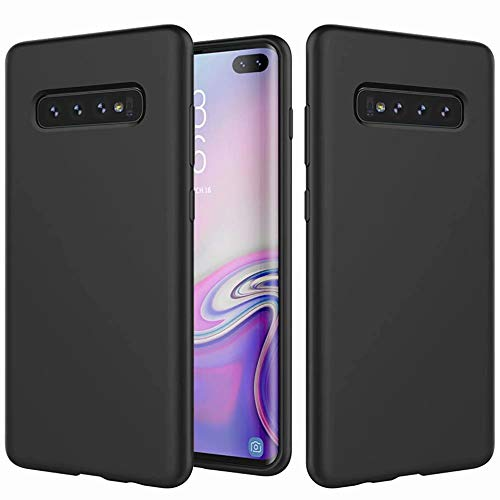 DYGG Compatible avec Coque Samsung Galaxy S10 Plus/S10+ en Silicone Liquide Ultra Mince Doux Gel TPU Case Cover, Anti…