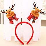 JKLTema Diadema Santa muñeco de Nieve Ciervo Oso Tocado Broche de Cabeza Accesorio de decoración de Fiesta en casa, C