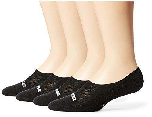 Starter Men's 4-Pack Athletic Invisible Liner Socks, Amazon Exclusive, Black, Large (Shoe Size 9-12)