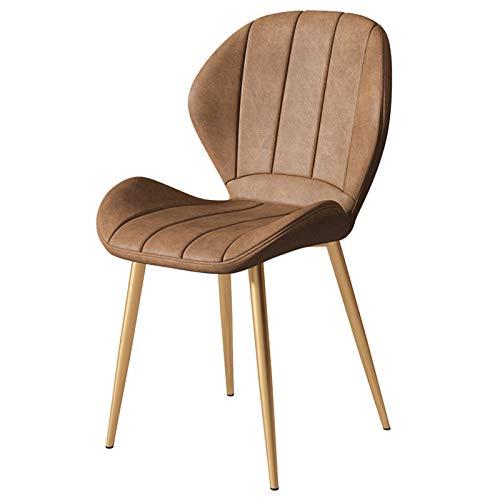 WWL Comedor Oficina sillas Respaldo Nórdico Cuero Comedor Sillas Restaurante Silla Negociación Lujo Muebles Café Modernos Sillas Cocina Ocio sillas de Comedor tapizadas Tela (Color : E)