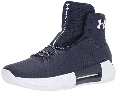 Under Armour Men's Team Drive 4 Basketball Shoe, Midnight Navy (403)/White, 11.5
