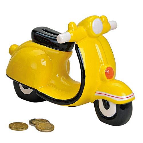 Spardose Motorroller Sparbüchse Vespa/dekorative Spardose in knalligem Gelb