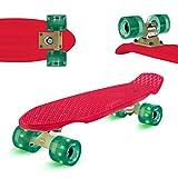 Skatery Mini Cruiser by fun pro (rot grün)