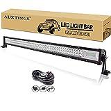 AUXTINGS 42 pulgada 540W LED barra de luz 7D foco de inundación de haz combo impermeable doble fila LED luces de buceo de trabajo para todoterreno