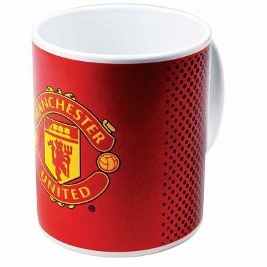 Manchester United Keramiktasse mit Fußballwappen.