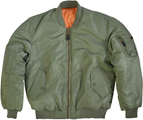normani US Pilotenjacke/Bomber Jacke/Wende - Jacke Farbe Oliv Größe XL