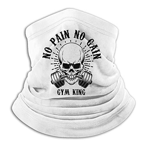 Lawenp Remember No Pain No Gain Gym King Máscara a prueba de viento Bufanda de microfibra Cuello Calor Multi-Estilo Cuello BalaclavaAheaddressf Negro