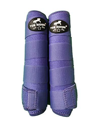 TGW RIDING Horse Sports Medicine Boots Horse Leg Wraps (Purple, L)