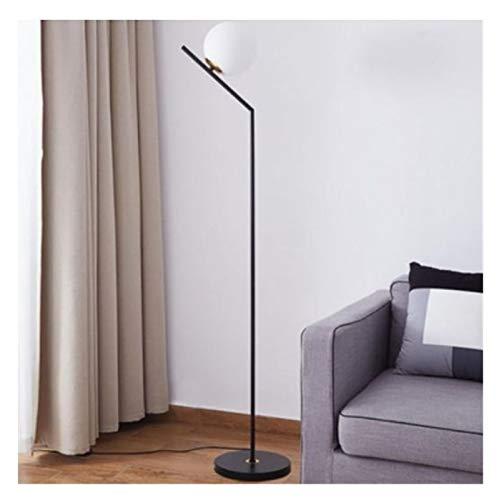 JSJJAER Lampara de pie Lámpara de pie nórdica salón sofá-Cama Dormitorio Simple Vaso Creativa Malla Vertical de lámpara de pie roja Decoración hogareña acogedora (Lampshade Color : Green)
