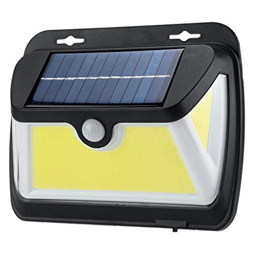 CLOOM Luz Solar Exterior 163 LED Foco Solar Exterior con Sensor De Movimiento Lámpara Solar Ip65 Impermeable Luces Solares Jardín 1200Mah Iluminación Para Patio Casa Restaurante Blanca