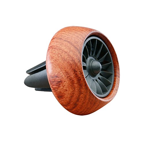Vicera Auto Duftspender Auto Lufterfrischer für einen frischen Duft im Fahrzeug Duftbaum Alternative Autoduft mit 3 nachfüllbaren Aromen (Braun)