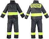 Nerd Clear Feuerwehr Kostüm für Kinder | 2-teilig: Jacke, Hose | ideal für Karneval & Fasching | Jungen & Mädchen |: Größe: 116-122