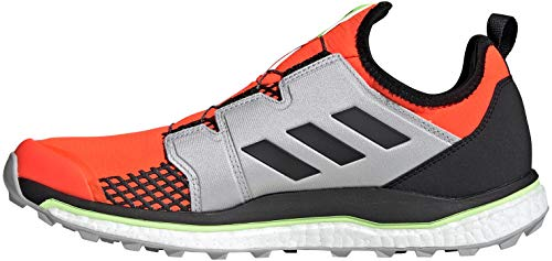 adidas Herren Terrex Agravic Boa Leichtathletik-Schuh, Solar Rot/Kern Schwarz/Grau Zwei F17, 43 1/3 EU