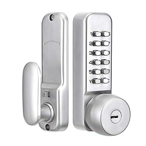 HSDCK Mechanical Keyless Or Keyed Entry Lock Set, Fits All Standard Doors, Waterproof High Security for Doors, Gates, Warehouse, Storage Shed