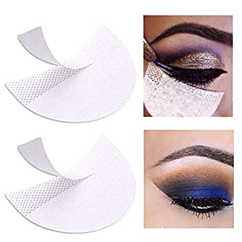 Pengxiaomei 100 Pcs Eyeshadow Pads Stencils Professional Eyeshadow Shield Eyeshadow Patches for Eye Makeup Supplies