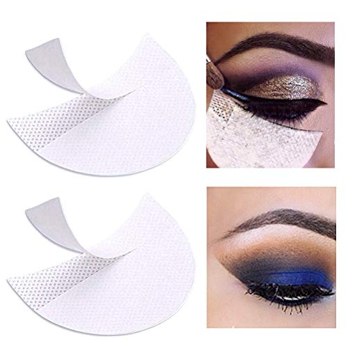 Pengxiaomei 100 Pcs Eyeshadow Pads Stencils, Professional Eyeshadow Shield Eyeshadow Patches for Eye Makeup Supplies