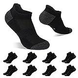 yinxiz calzini uomo corti nero 39-42 calze donna corte cotone sportive traspirante 8 paia