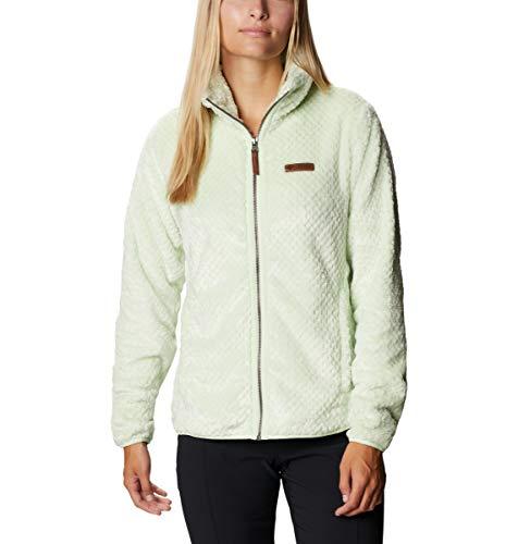 Columbia Women's Fire Side II Sherpa Full Zip, Light Lime, XX-Large