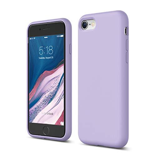 Elago Silicone Liquido Custodia Cover Compatibile con iPhone SE 2020, Compatibile con iPhone 8 e Compatibile con iPhone 7 – Protezione Full Body con Struttura a Tre Strati (Lavanda)